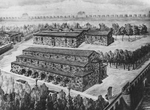 رسم لساحة مدينة دوين مسقط رأس بني أيوب.