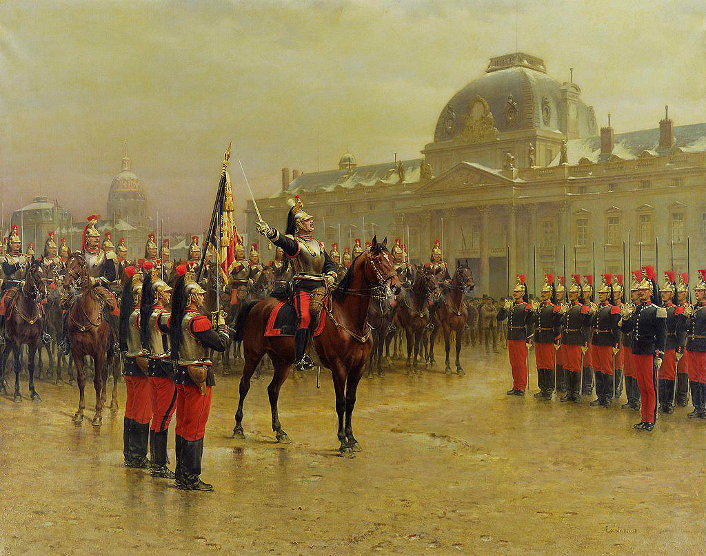 جنود فرنسيين بالسراويل الحمراء في عام 1887