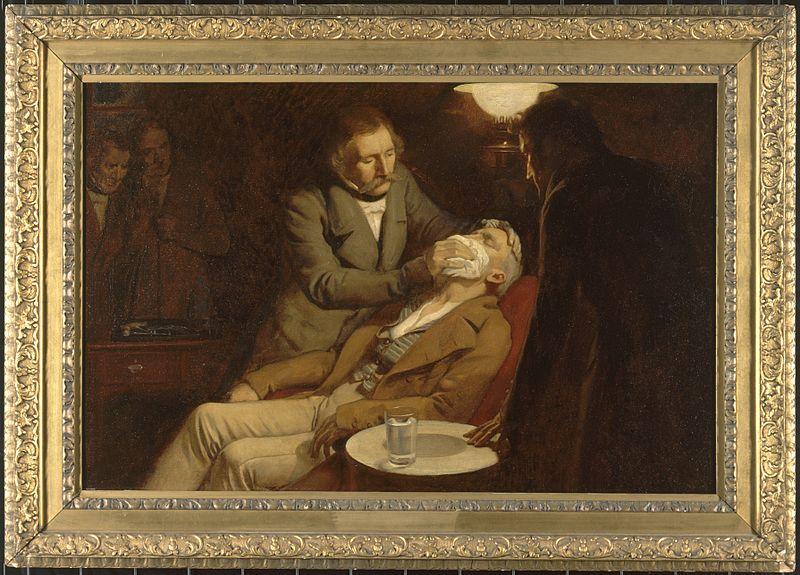 الاستخدام الأول للأثير في جراحة الأسنان