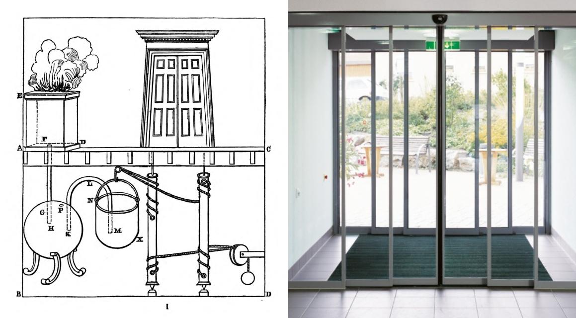 الأبواب الأوتوماتيكية بين الماضي والحاضر