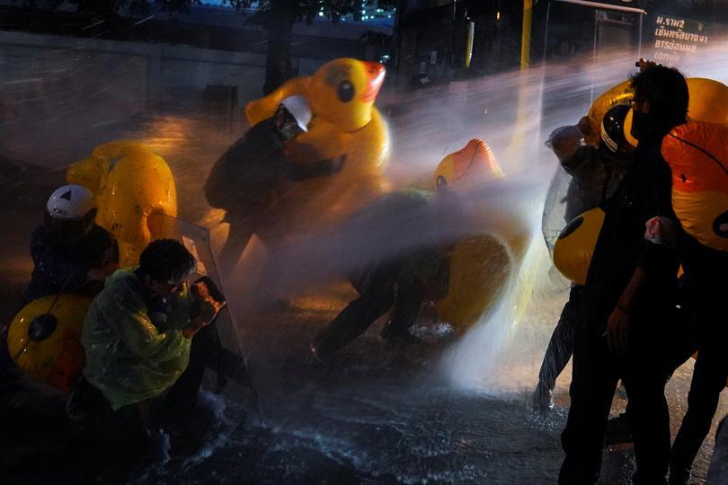 البطة المطاطية في الاحتجاجات