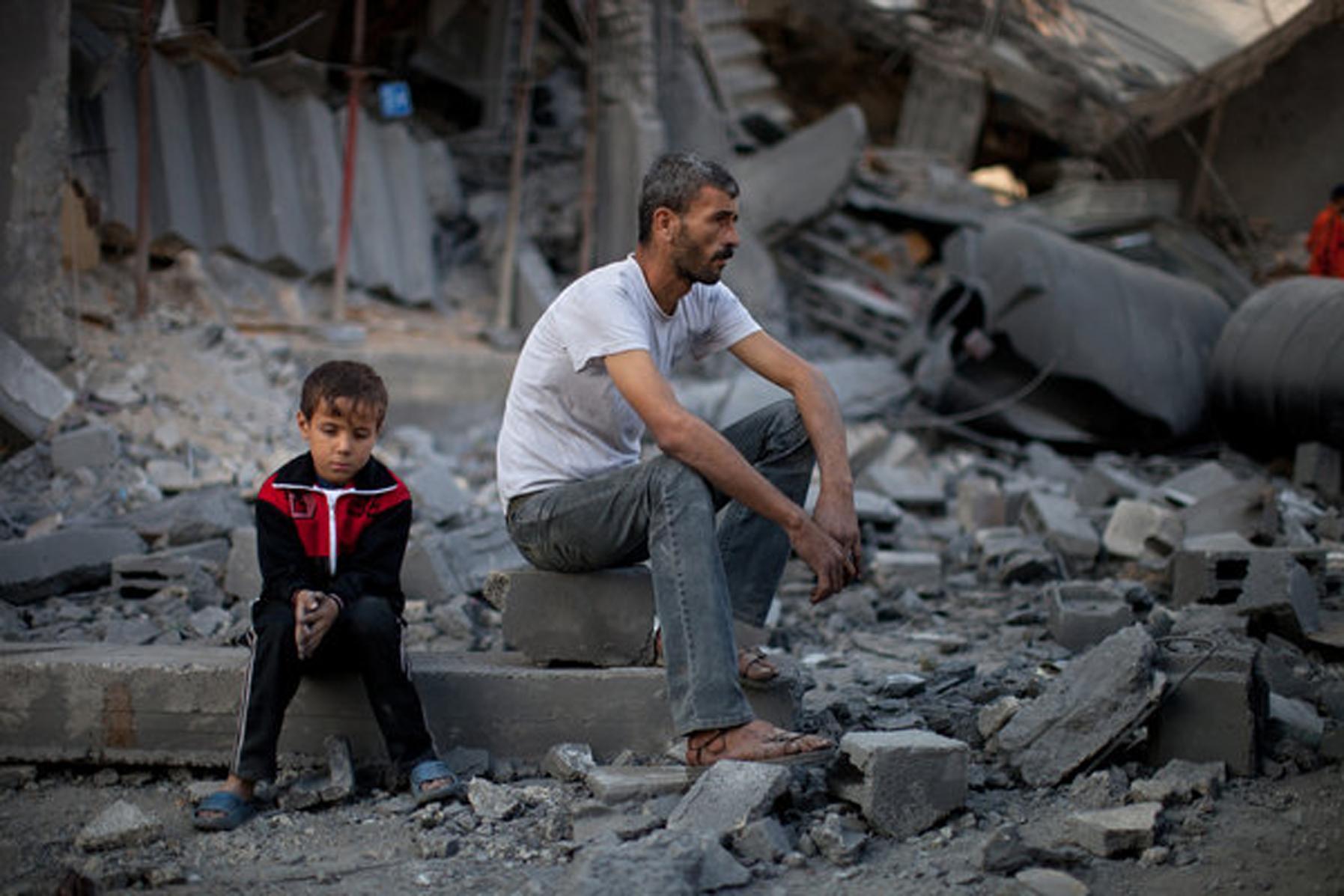 منازل مدمرة في فلسطين