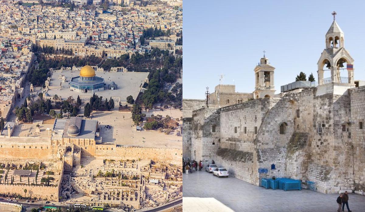 كنيسة المهد والمسجد الأقصى