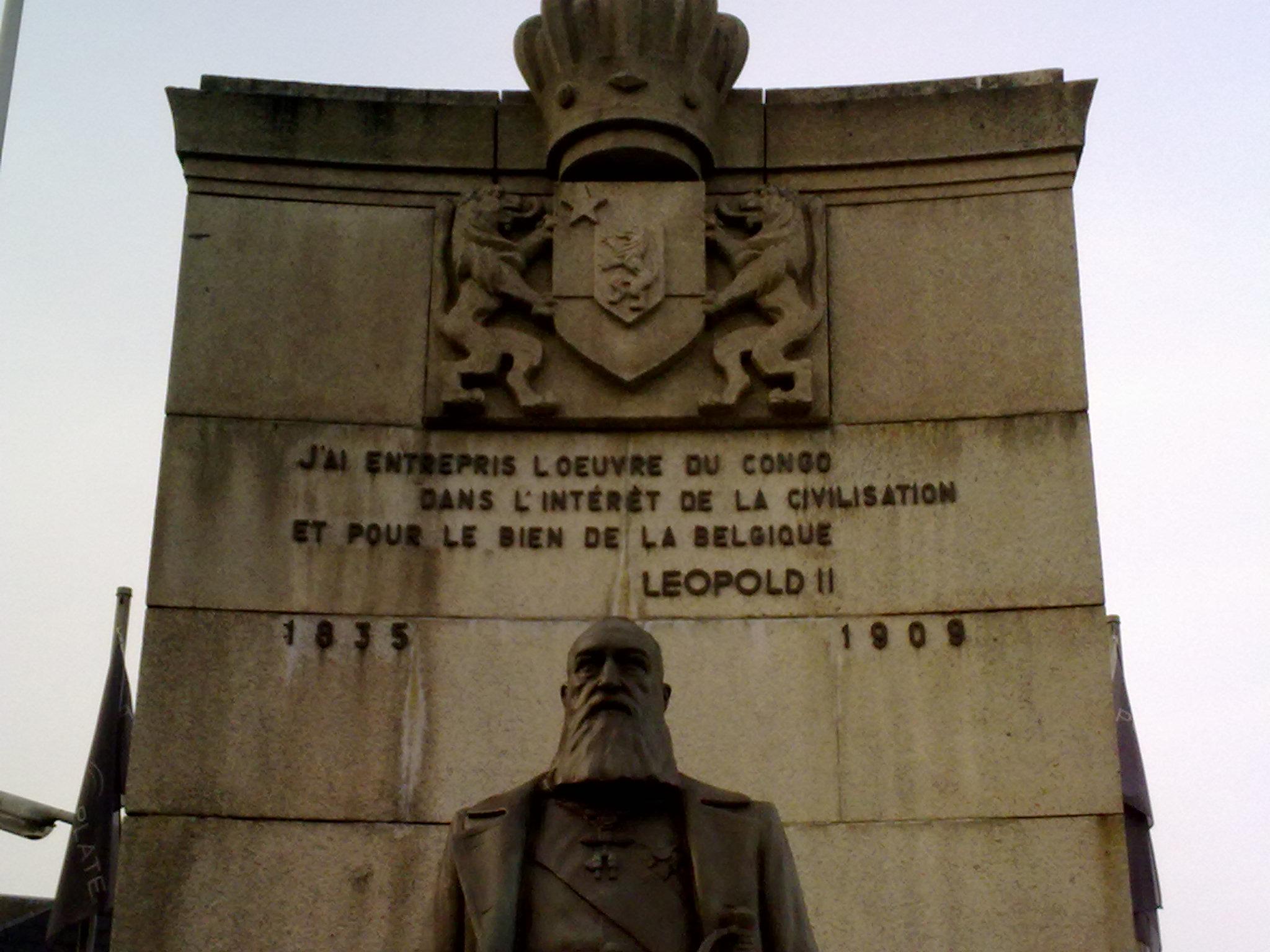 تمثال لملك بلجيكا ليوبولد الثاني