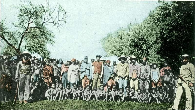 أسرى الهيريرو في ناميبيا تحت الاستعمار الألماني من الأرشيف الفيدرالي الألماني