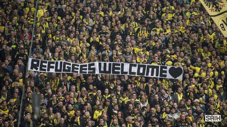 للترحيب باللاجئين