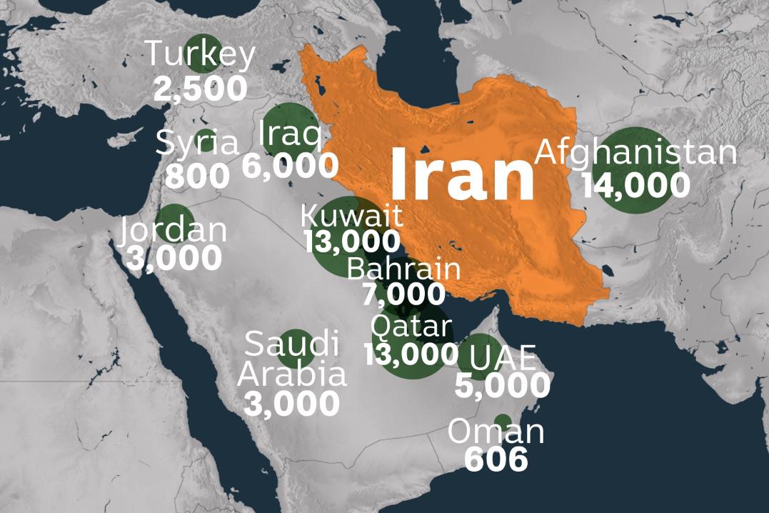 القواعد العسكرية الأمريكية الخليج العربي
