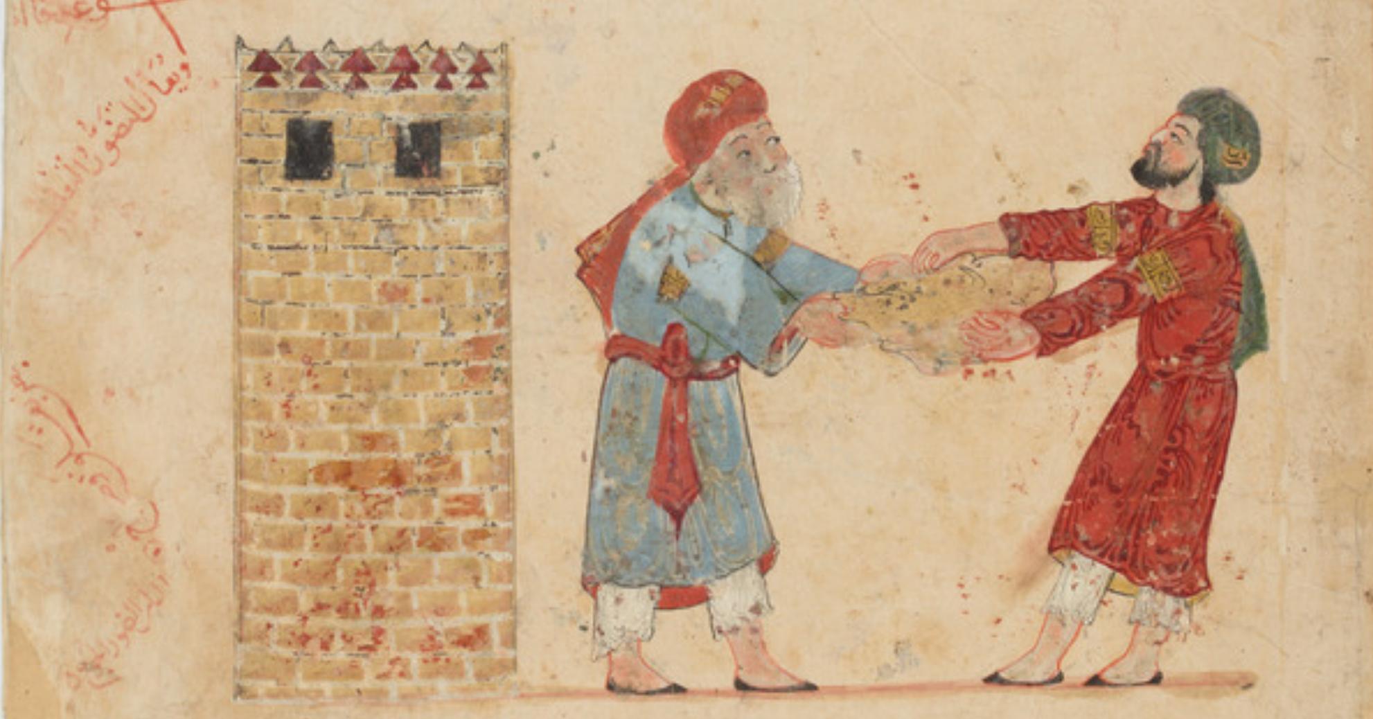 صورة من «مقامات الحريري» لبغداد في أواخر العصر العباسي (القرن الثامن ميلاديًّا).