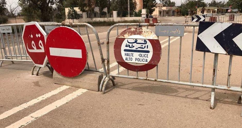 الحدود الجزائرية المغربية مغلقة منذ سنة 1994، مصدر الصورة ( الخبر)
